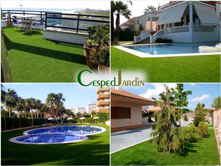 Cesped artificial dise o de jardines 3d cespedjardin - Cesped artificial valencia ...